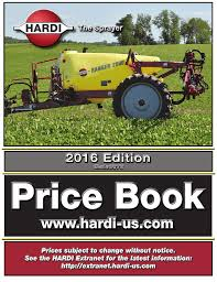 Hardi Spray Nozzle Chart Hardi 2016 Us_price_book Manualzz Com