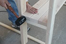mallet fit shelves diy console table assembly