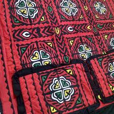 Ralli Design Shirts Red Color Handmade Sindhi Ralli Rally Appliqued Bedsheet Rbs 04
