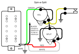guitar wiring explored the spin a split mod seymour duncan Single Pickup Guitar Wiring Diagram guitar wiring explored the spin a split mod single pickup electric guitar wiring diagram