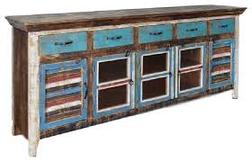 rustic distressed reclaimed solid wood curio cabinet with glass door and shutter