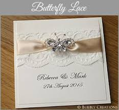 wedding invitations, luxury invites and stationery by bubbly creations Handcrafted Wedding Stationery Uk butterfly lace wedding invitation collection luxury handmade wedding invitations uk