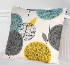 Yellow And Grey Living Room Teal Grey Mustard Dandelion Cushion Cover Flower Pillow Cover 16