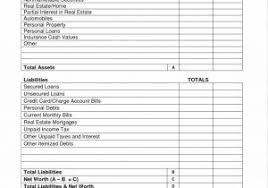 Real Estate Financial Statement Template Or Operating Statement