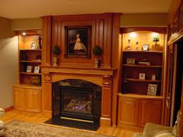 custom made fireplace mantel and built in shelving