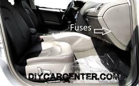 audi a4 fuses designation location list b8 2008 2015 fuse box location on the passenger side audi a4