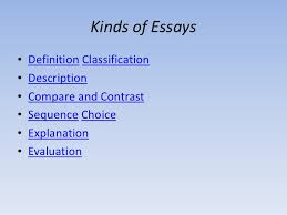 how to write essays kinds of essays• definition classification•