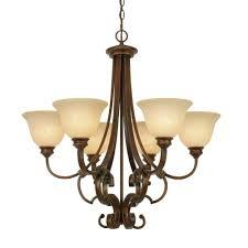 vintage brown glass chandelier