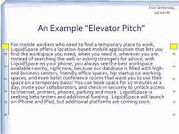 Elevator Speech Examples Threeroses Us