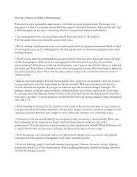 dance critique essay examples art critique essay lewis and clark  dance critique essay topics for exemplification essays