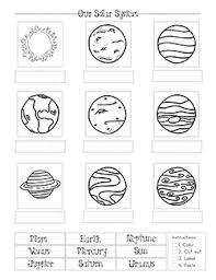Solar System Chart Worksheet Charts Worksheets Homeschool Clipart