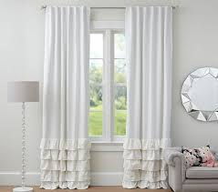 appealing white ruffle blackout curtains and black curtain blackout shades white and color block curtains inch