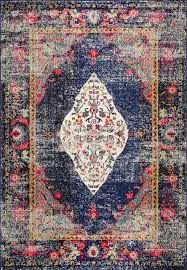 iris fading oriental medallion runner area rugs navy contemporary area rugs by nuloom
