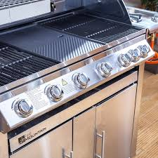 Appliance Gas Regulator Premier Stainless Steel 6 Burner Gas Barbecue With Window