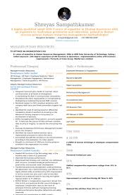 Human Resources Resume Template Classy Human Resources Resume Samples VisualCV Resume Samples Database