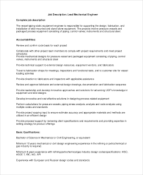 structural engineer job description sample mechanical engineering job description 10 examples in pdf