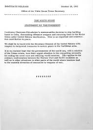 best voyage paris mai juin images places  president kennedy s address to the nation effectively ending the n missile crisis courtesy jfk