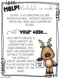 holiday writing descriptive writing reindeer wanted writing prompt winter holiday writing descriptive writing reindeer wanted writing prompt