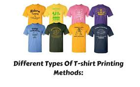 T Shirt Making Program Different Types Of T Shirt Printing Methods 2018 Updated
