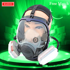 industry full face survival gas safety mask for work filter breath spray paint mask pesticide respirator dust chemical gas mask in respirator from security