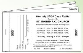 Draw Ticket Template Monthly Drawing Raffle Ticket Books Fundraising