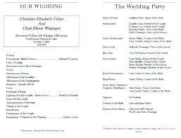 Wedding Program Templates Professional Ceremony Sample Free Template