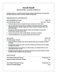 Spa Therapist Resume Spa Therapist Spa Therapist Resume Format
