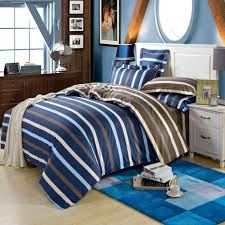 high quality microfiber bedding duvet cover sets striped ink blue brown size full bright set solid