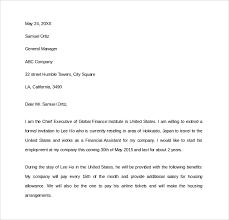 visa letter sample invitation letter for us visa 9 free documents awesome
