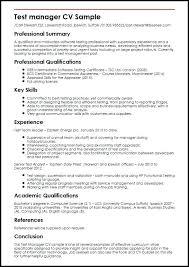 Cv Sample Resume Test Manager Sample Cv Resume Format For Doctors