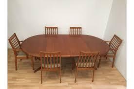 rare danish vamdrup stolefabrik mid century teak dining table and six chairs photo 1