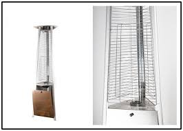 fire sense stainless steel pyramid flame patio heater for any outdoor gathering