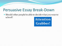a break down of each required piece ppt video online  3 persuasive
