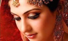 bridal makeup and saree view larger image