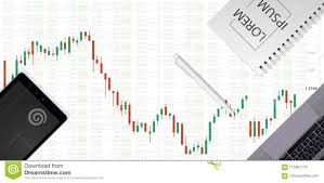 Stock Market Chart Business Graph On Technology Background