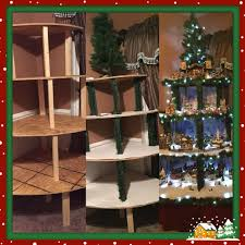 Christmas Tree Village Display Stands Classy Corner Christmas Tree Village Display Made With 32 Removable