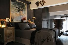bedroomawesome masculine master bedroom ideas with wooden canopy bed and white fur rug also bedroom male bedroom ideas