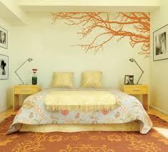 Bedroom Wall Painting Designs Absurd Amazing Orange Japanese Tree Garden  For Modern Paint 23