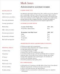 40 Entry Level Administrative Assistant Resume Templates Free Classy Objective Resume Administrative Assistant
