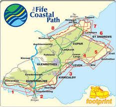 Fife Coastal Path Distance Chart Footprint Maps The Fife Coastal Path