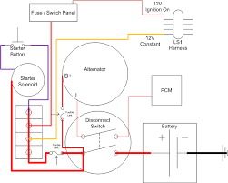 simple race car wiring diagram wiring diagram schematics wiring diagram for a battery disconnect ls1tech
