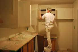 Small Picture Spray Painting Kitchen Cabinets