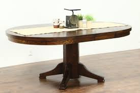 round solid oak 1910 antique 45 craftsman dining table