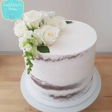 Semi Naked White Cake