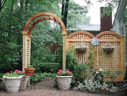 garden arbor trellises garden arbor trellises four foot wide arbor with arched square lattice trellis diy