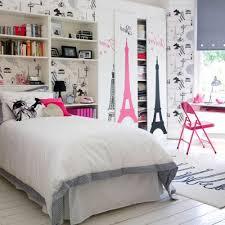astonishing image of girl bedroom decoration using light gray stripe bedroom area rug including pink eiffel tower bedroom wall