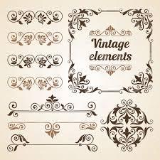 Vignette Design Set Of Vintage Vignettes And Design Elements Stock Vector Image