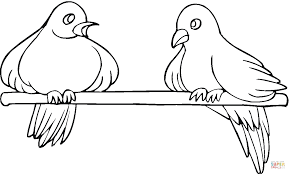 Small Picture Two Pigeons coloring page Free Printable Coloring Pages