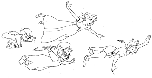 Small Picture Peter Pan Flying Coloring Pages Coloring Coloring Pages