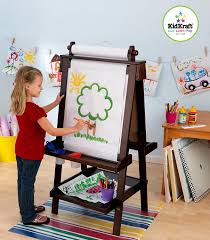 kidkraft deluxe wood easel espresso toys unique best art easel for kids